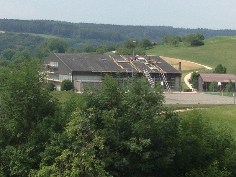 Schulhaus Kienberg Dachfenster Renovation